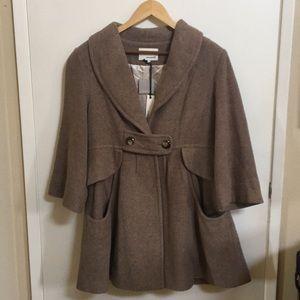 Anthropologie ensemble L brown tan jacket